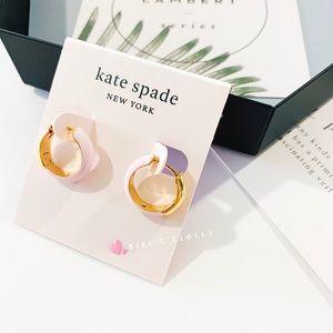 ❗️LAST1❗️Kate Spade Candy Drop Hoop Earrings Pink